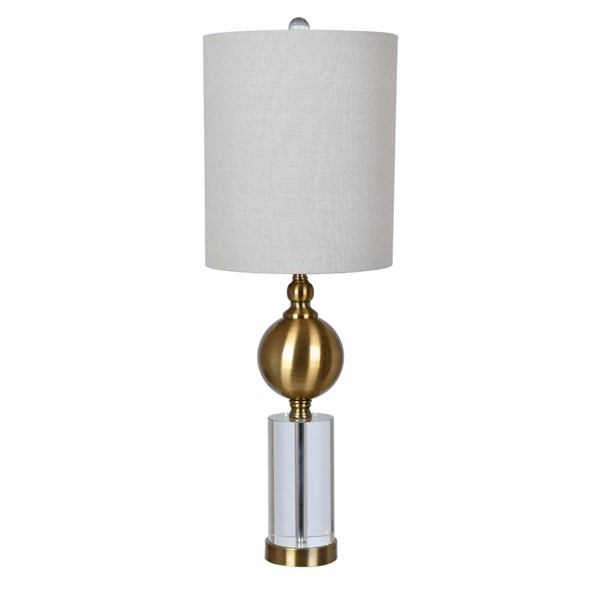 2 Crestview Collection Dupuis Oatmeal Table Lamps CRST-CVABS1235