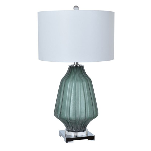 Crestview Collection Dara Frosted Green White Table Lamp CRST-CVABS1269