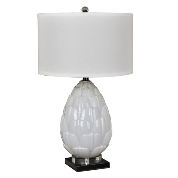 Crestview Collection Artichoke White Table Lamp CRST-CVABS1276