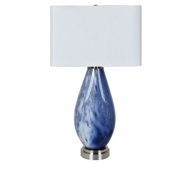 Crestview Collection Emma Blue White Table Lamp CRST-CVABS1436