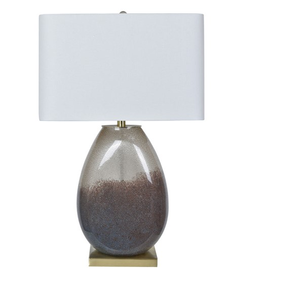 Crestview Collection Noah Smoked White Table Lamp CRST-CVABS1438