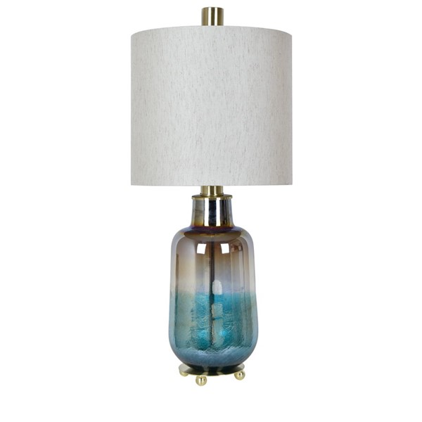 Crestview Collection Ava Teal Cream Table Lamp CRST-CVABS1440
