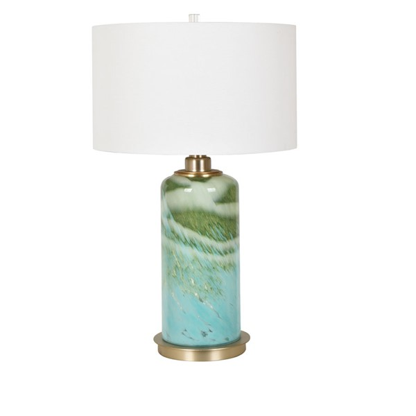 Crestview Collection Estella Blue Green White Table Lamp CRST-CVABS1472