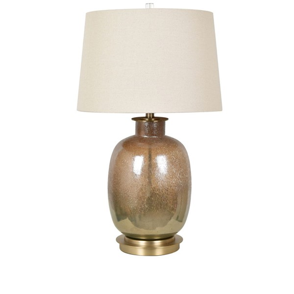 Crestview Collection Charlotte Mastic Bronze Oatmeal Table Lamp CRST-CVABS1474
