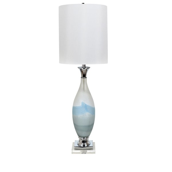 2 Crestview Collection Evelyn Blue White Table Lamps CRST-CVABS1483