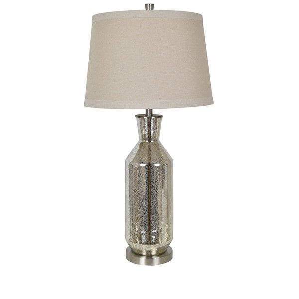 2 Crestview Collection Jaden Mercury Oatmeal Table Lamps CRST-CVABS1632A