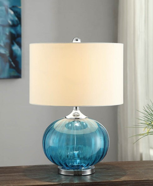 Crestview Collection New Port White Sea Blue Table Lamp CRST-CVABS680