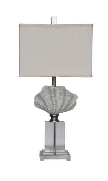 Crestview Collection Off White Crystal Beach Table Lamp CRST-CVABS682