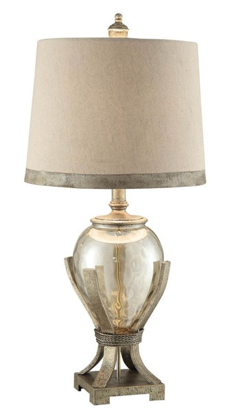 Crestview Collection Hawthorne Pearl Silver Taupe Table Lamp CRST-CVABS759