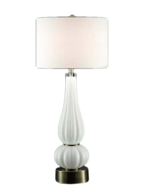 Crestview Collection Atlantic White Table Lamp CRST-CVABS764