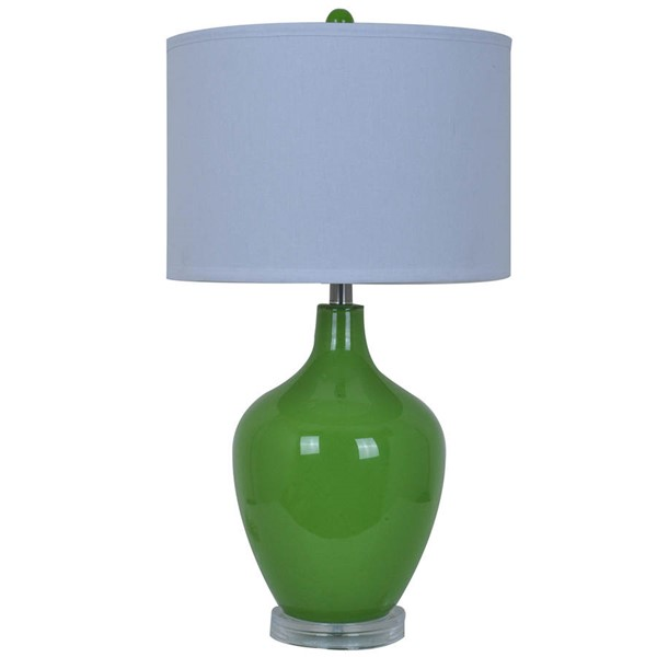 Crestview Collection Avery Green White Table Lamp CRST-CVABS811D