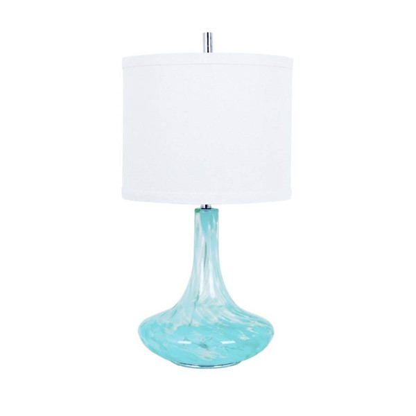 2 Crestview Collection Pasha Light Blue White Table Lamps CRST-CVABS816