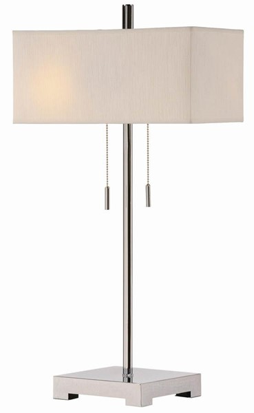 2 Crestview Collection Orlo Brushed White Twin Light Table Lamps CRST-CVACR149