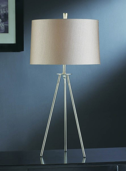 2 Crestview Collection Sabra Brushed Champagne Table Lamps CRST-CVACR770
