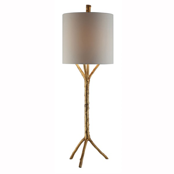 Crestview Collection Gold Leaf White Metal Tree Table Lamp CRST-CVAER1196