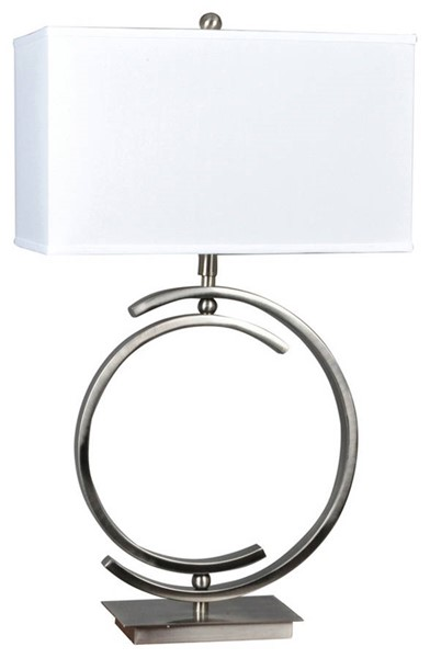 Crestview Collection Knox White Table Lamp CRST-CVAER153