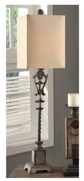 Crestview Collection Belle Distressed Large Buffet Lamp CRST-CVAER223