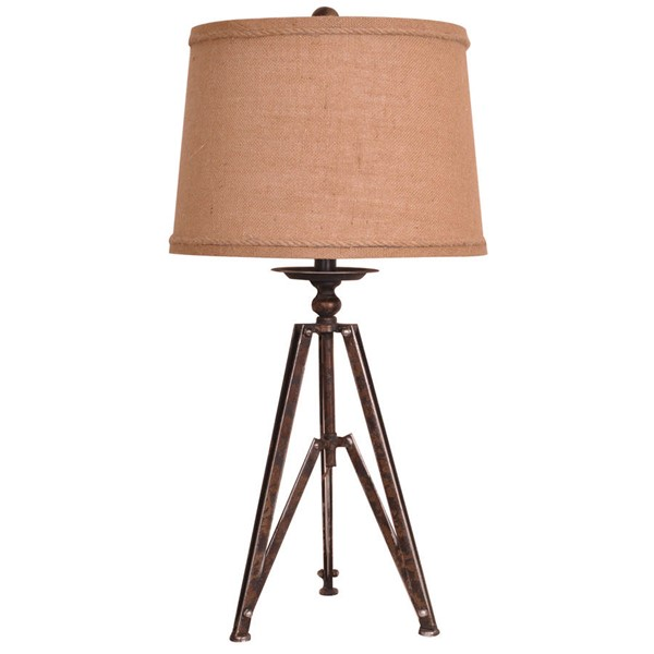 Crestview Collection Tripod Burlap Table Lamp CRST-CVAER452