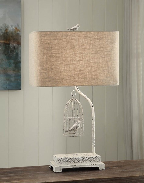 Crestview Collection Birdsong Natural White Table Lamp CRST-CVAER463