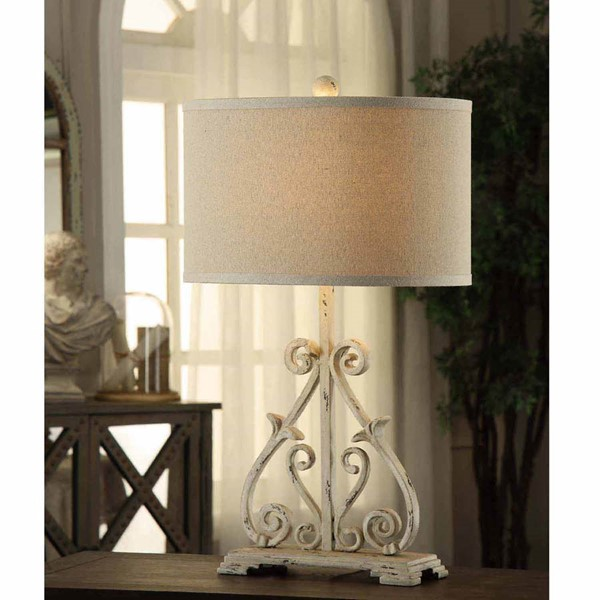 Crestview Collection Dunbar Antique White Table Lamp CRST-CVAER547