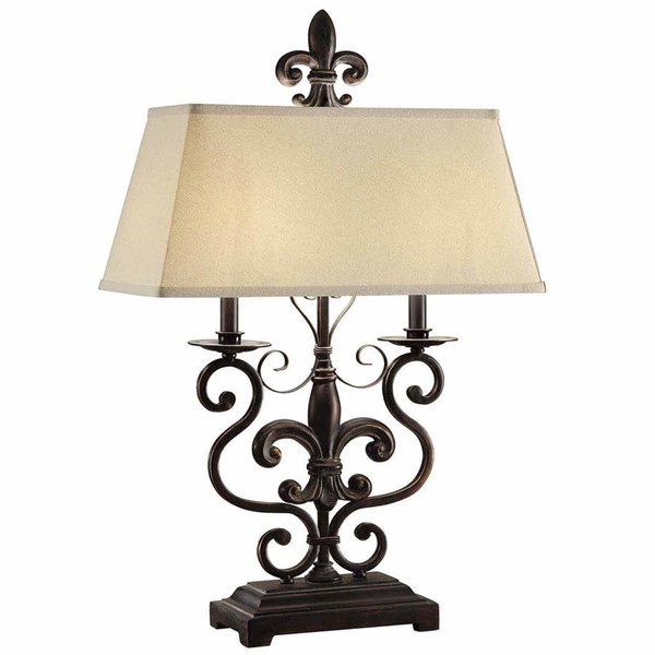 Crestview Collection Le Fleur De Natural Bronze Table Lamp CRST-CVAER562