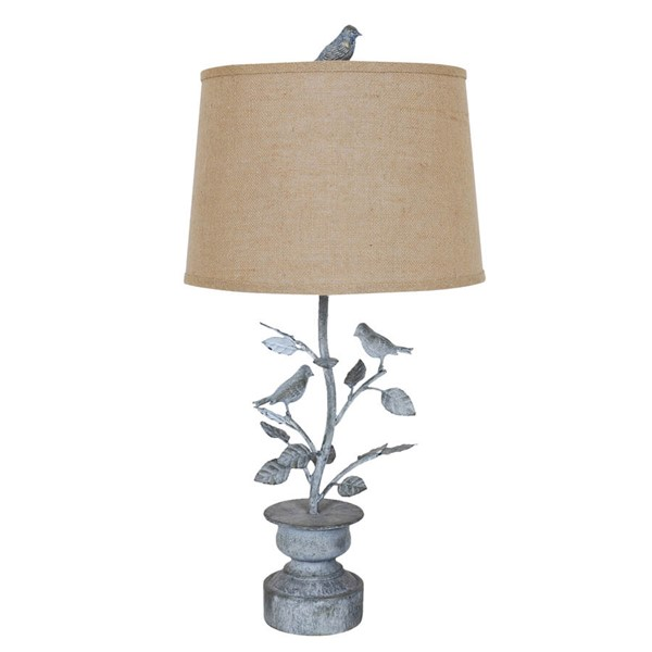 Crestview Collection Burlap Spring Planter Table Lamp CRST-CVAER573