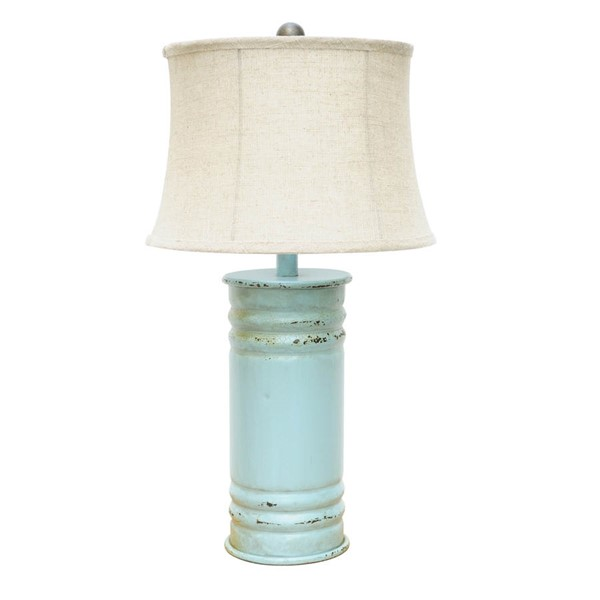 Crestview Collection Antique Blue Table Lamp CRST-CVAER584