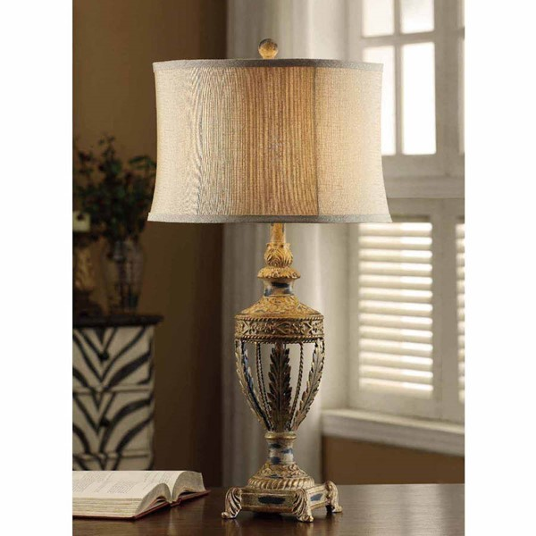 Crestview Collection Cream Classics Table Lamp CRST-CVAER611