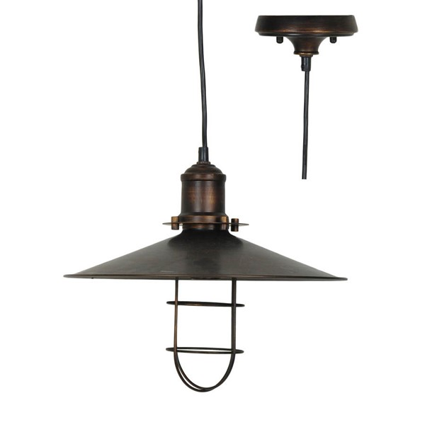 Crestview Collection Harbor Antique Bronze Side Pendant Lamp CRST-CVAER666