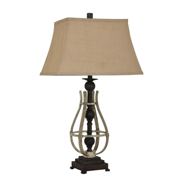 Crestview Collection Braxton Burlap Table Lamp CRST-CVAER681