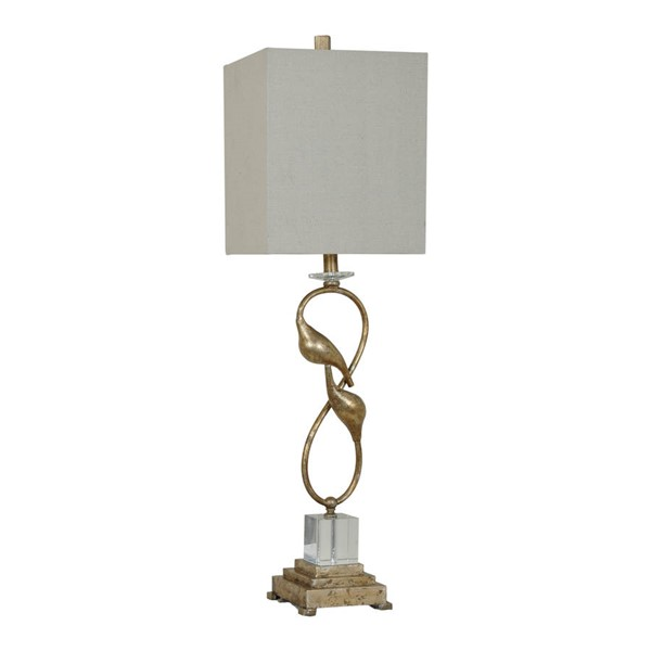 Crestview Collection Cream Champagne Oi Connor Table Lamp CRST-CVAER682