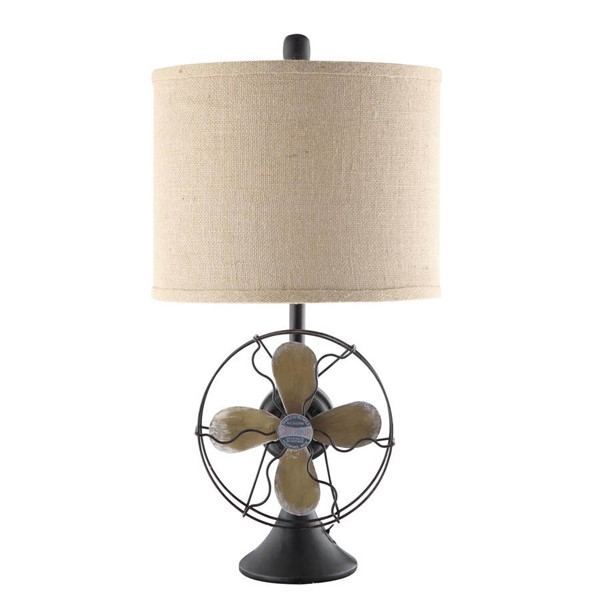 Crestview Collection Burlap Antique Fan Table Lamp CRST-CVAER718