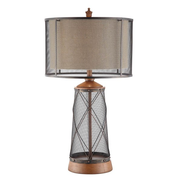 Crestview Collection Cage Burlap Table Lamp CRST-CVAER732