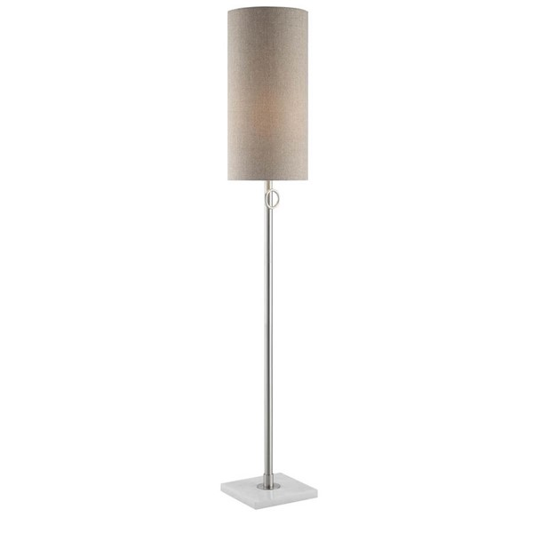 Crestview Collection Arte White Taupe Floor Lamp CRST-CVAER742