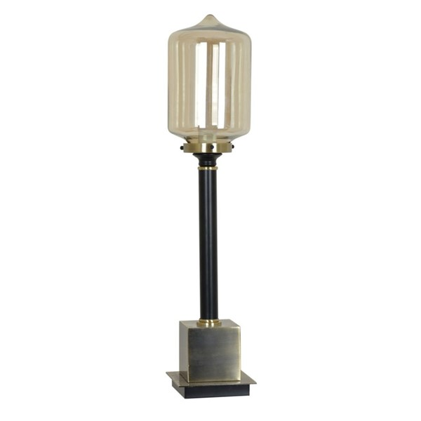 Crestview Collection Sylvan Antique Black Table Lamp CRST-CVAER777