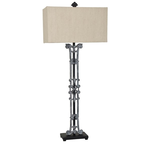 Crestview Collection Maxwell Antique Oatmeal Table Lamp CRST-CVAER851