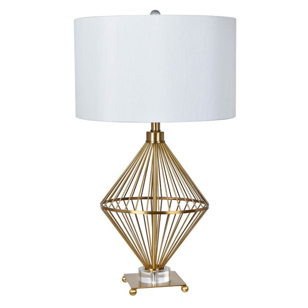Crestview Collection Trina White Table Lamp CRST-CVAER895