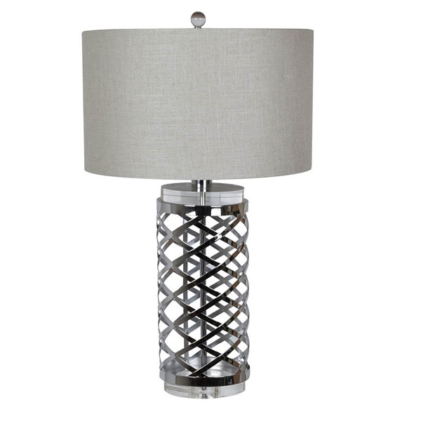 Crestview Collection Studio Chrome Silver Table Lamp CRST-CVAER897