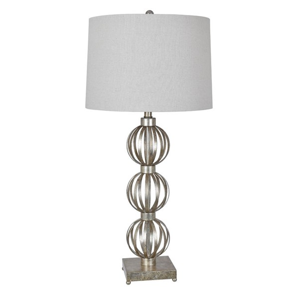 Crestview Collection Massoud Oatmeal Silver Table Lamp CRST-CVAER900