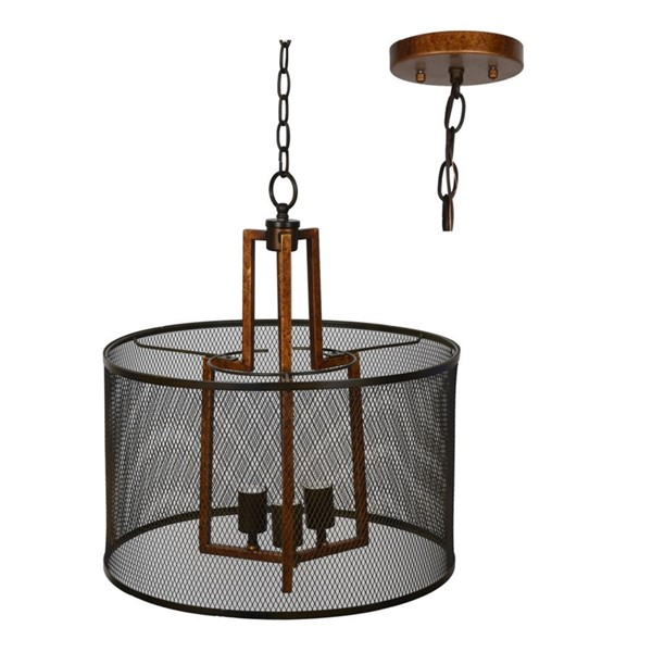 Crestview Collection Winchester Copper Metal Pendant Lamp CRST-CVAER931
