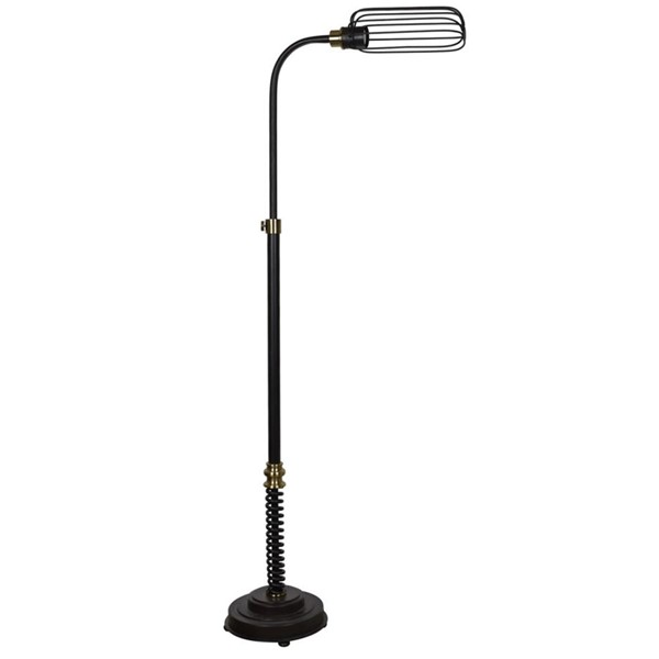 Crestview Collection Jasper Antique Black Task Floor Lamp CRST-CVAER934