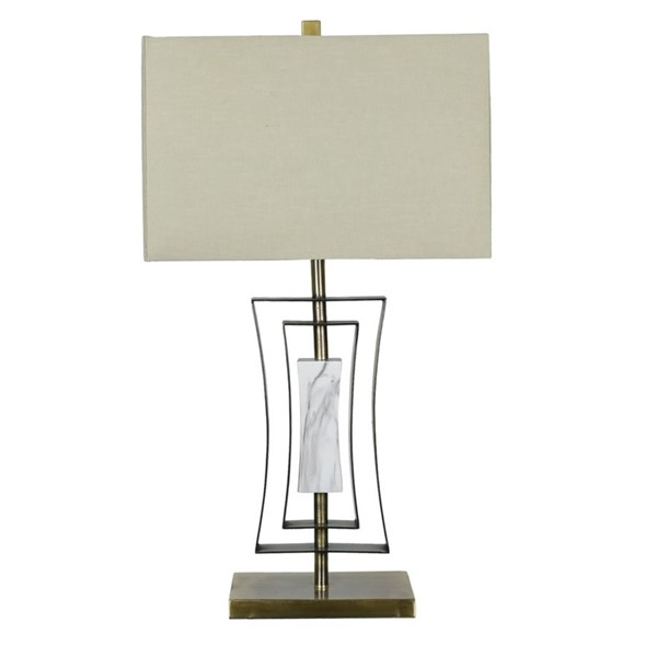 Crestview Collection Sloan Antique White Table Lamp CRST-CVAER947