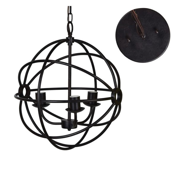 Crestview Collection Global Bronze Metal Pendant Lamp CRST-CVAER977