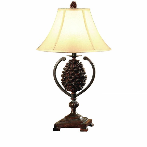 2 Crestview Collection Bison Brown Natural Pine Creek Accent Lamps CRST-CVAMP341