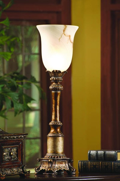 Crestview Collection Sanders Gold Torchiere Lamp CRST-CVAOP408