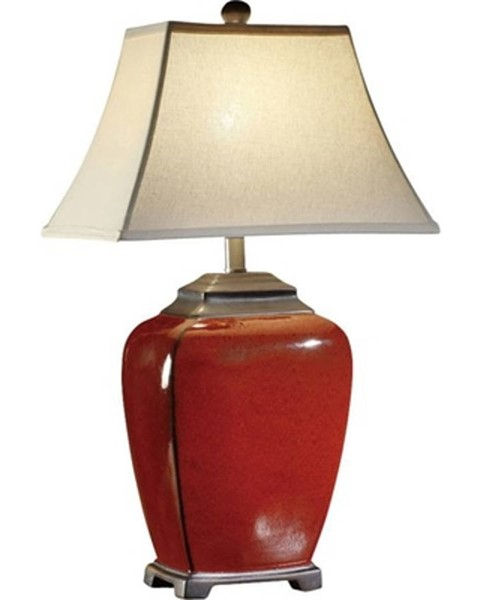 2 Crestview Collection Raina Red Table Lamps CRST-CVAP1236