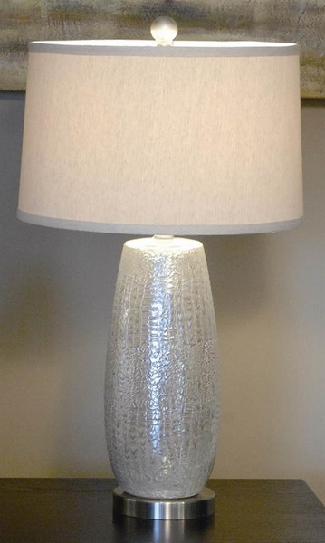 2 Crestview Collection Melrose Silver Table Lamps CRST-CVAP1250