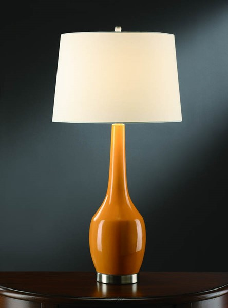 Crestview Collection Tangerine White Table Lamp CRST-CVAP1344A