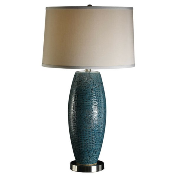 2 Crestview Collection Melrose Turquoise Blue Gray Table Lamps CRST-CVAP1348