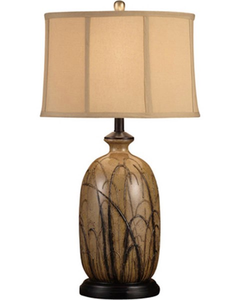 Crestview Collection Nigel Toffee Black Table Lamp CRST-CVAP1353